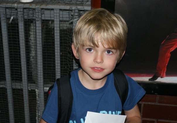 After Eliot's last night as 'Small Boy' in Billy Elliot. 26-09-2009. Picture by shadowchaser.