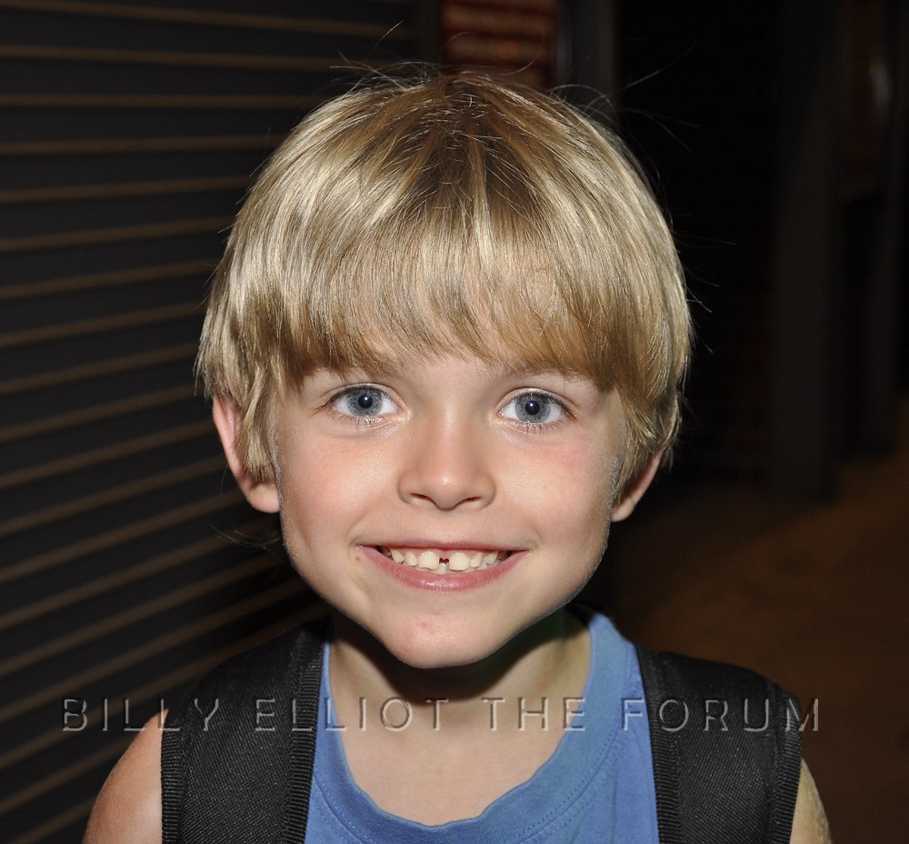 """After Eliot's last night as """"Small Boy"""" in Billy Elliot. 26-09-2009. Picture by David Barker."""