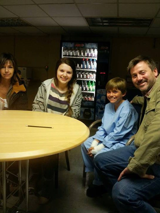 "Photo from ""Casualty\"", with Eliots Dad (Graham AKA John Stape from Cornation Street) and Katy, playing the part of his sister."