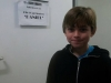 """Eliot in his dressing room on the set of """"Casualty""""."""
