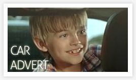 Eliot in the Opel Zafira car advert